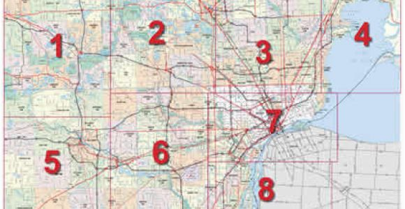 Street Map Of Detroit Michigan Mdot Detroit Maps