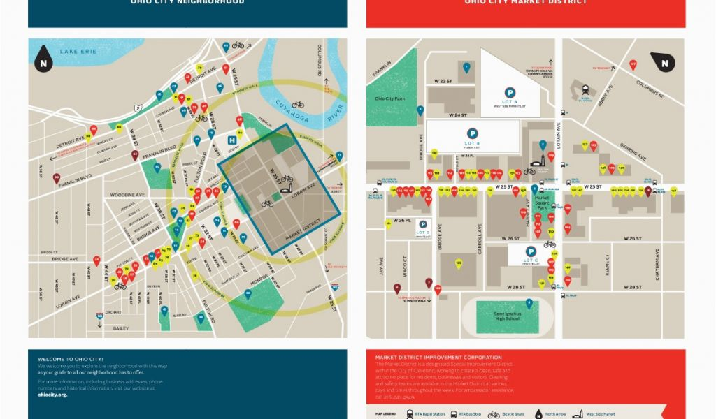 Downtown Cleveland Ohio Map Map Of Us Western States
