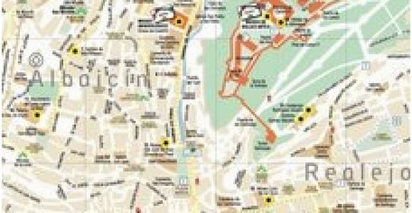 Street Map Of Granada Spain Leaflets and Maps Of Granada Turismo De Granada