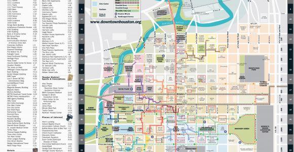 Street Map Of Houston Texas Map Downtown Houston