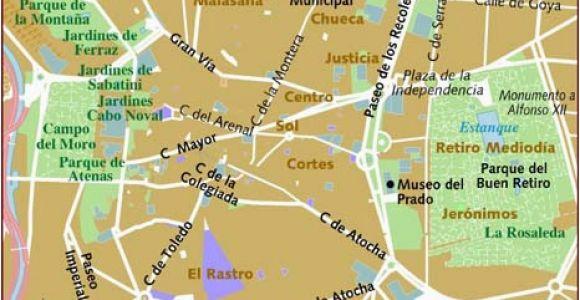 Street Map Of Madrid Spain Map Of Madrid