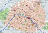 Street Map Of Paris France Printable Map Of Paris tourist attractions Sightseeing tourist tour