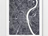 Street Map Paris France Printable Cologne City Urban Map Poster Cologne Street Map Print Cologne Germany Grey Map Modern Wall Art Home Decor Travel Poster Printable Art