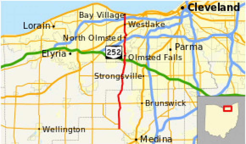 Strongsville Ohio Map Ohio State Route 252 Wikivisually