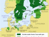 Sweden On Europe Map Map Showing the Development Of the Swedish Empire Between