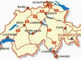 Switzerland On Map Of Europe Awesome Map Of Switzerland tourist Travelquaz Map Of