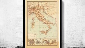 Syracuse Italy Map Old Map Of Italy touristic Map Italia 1931 In 2019 Art Italy Map