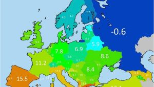 Temperature Map Europe Average Annual Temperature Of European Countries