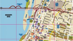 Tennessee attractions Map Memphis Map Map Of Memphis the Surrounding areas