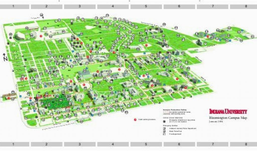 Tennessee State University Campus Map Indiana University