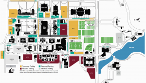 Texas Christian University Map Campus Map Midwestern State University