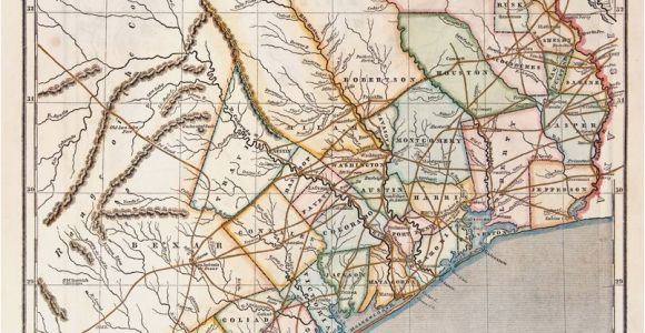 Texas Colonies Map Republic Of Texas by Sidney E Morse 1844 This is A Cerographic