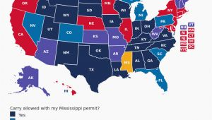 Texas Concealed Carry Reciprocity Map Georgia Ccw Reciprocity Map Mississippi Concealed Carry Gun Laws