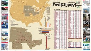Texas Crops Map Spring 2018 U S and Canada Fuel Ethanol Plant Map by Bbi