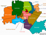 Texas Education Regions Map San Antonio School Districts Gopublic