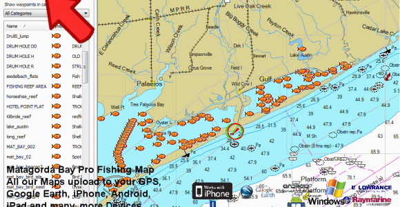 Texas Bank Fishing Map secretmuseum.  Part 182