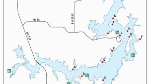Texas Lake Finder Map Fish attractors In Lake Brownwood