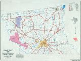 Texas Map with Counties and Highways Texas County Highway Maps Browse Perry Castaa Eda Map Collection