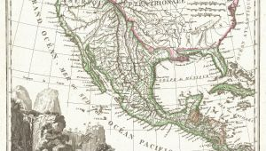 Texas Mexico Border Map File 1810 Tardieu Map Of Mexico Texas and California Geographicus
