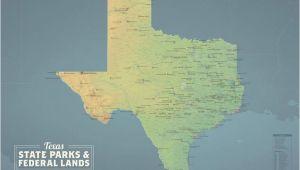 Texas National Wildlife Refuges Map Texas State Parks Bundeslander Karte 24 X 36 Poster Etsy