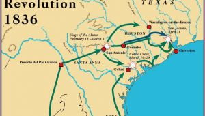Texas Revolution Map 1836 Battles Of the Texas Revolution and Important Characters Lessons