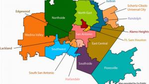 Texas School Regions Map San Antonio School Districts Gopublic