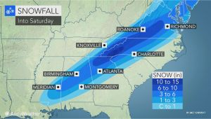 Texas Snowfall Map Snowstorm Cold Rain and Severe Weather Threaten southeastern Us