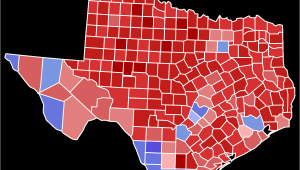 Texas Voting Map 2018 Texas Gubernatorial Election Wikipedia