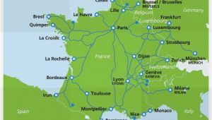 Tgv Lines France Map Map Of Tgv Train Routes and Destinations In France