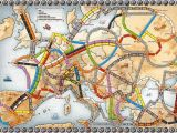 Ticket to Ride Europe Map Pin On School Days