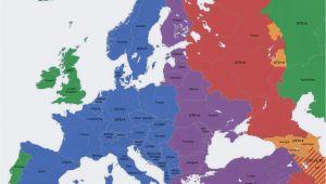 Time Zones Europe Map Europe Map Time Zones Utc Utc Wet Western European Time