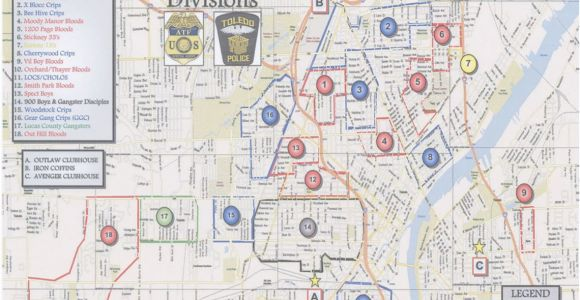 Toledo Ohio Map Google the Blade Obtains toledo Police Department S Gang Territorial