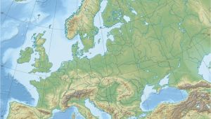 Topographic Map Of Europe Europe topographic Map Climatejourney org