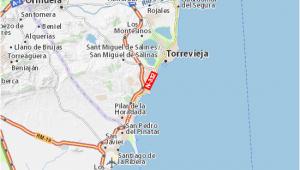 Torrevieja Spain Map Map Of Playa Flamenca Michelin Playa Flamenca Map Viamichelin