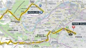 Tour De France Final Stage Route Map tour De France 2018 Route Stage 21 Houilles Paris