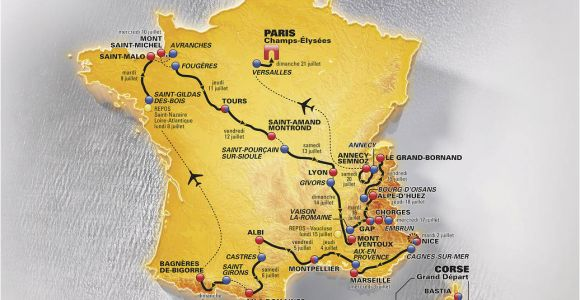 Tour De France Route 2013 Map tour De France 2013