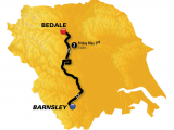 Tour De France Stage 2 Map Stage 2 Barnsley to Bedale 132km tour De Yorkshire 2