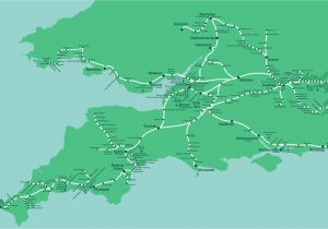 Train Line Map England Great Western Train Rail Maps