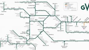 Train Map south West England Great Western Train Rail Maps
