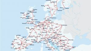 Train Routes Europe Map European Railway Map Europe Interrail Map Train Map