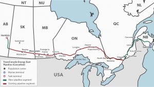 Trans Canada Pipeline Map Pipelines In Canada the Canadian Encyclopedia