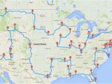 Trip Planner Map Europe This Map Shows the Ultimate U S Road Trip Mental Floss