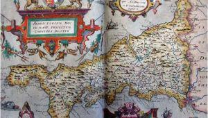 Tudor Map Of England Tudor Map Of Cornwall 1579 Christopher Saxton the