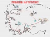 Turkey On Map Of Europe Itineraries for A Road Trip In Turkey Travel Europe Road