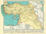 Turkey Texas Map Palestine and Turkey 1935 Vintage Map Colliers atlas Page Products