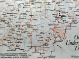 Underground Railroad Ohio Map All Things Wildly Considered Major Steps to Freedom southern