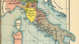 Unification Of Italy Map Italy From 1815 to the Present Day 1905 by Friedrich Wilhelm