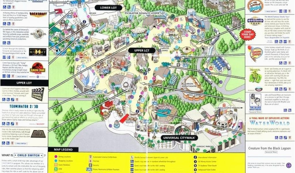 Universal Studios California Map Pdf Universal Studios