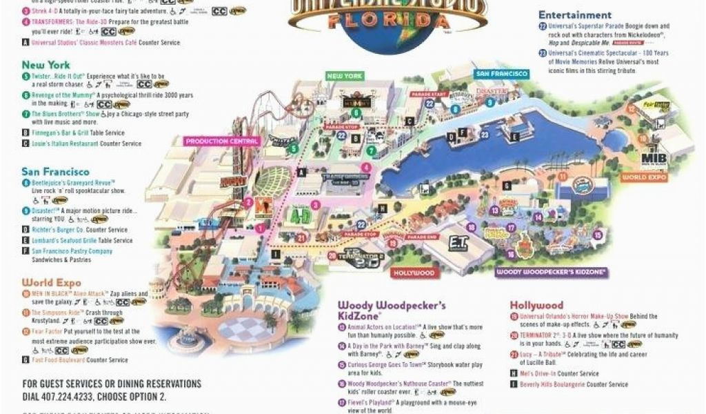 Universal Studios California Park Map Universal Studios California ...
