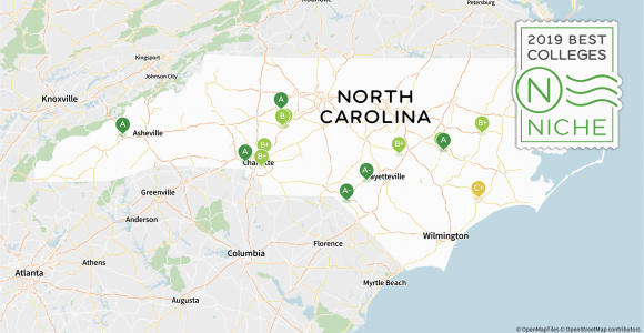 Universities In north Carolina Map 2019 Best Colleges In north Carolina Niche